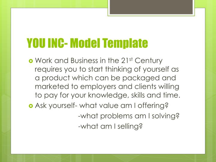 YOU INC- Model Template