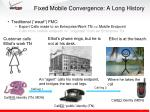 fixed mobile convergence a long history