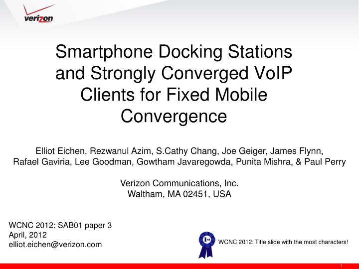 smartphone docking stations and strongly converged voip clients for fixed mobile convergence n.