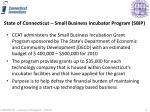 state of connecticut small business incubator program sbip