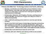pwc characteristics