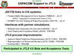 uspacom support to jtls