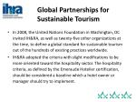 global partnerships for sustainable tourism