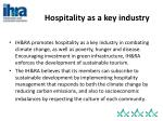 hospitality as a key industry