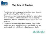 the role of tourism