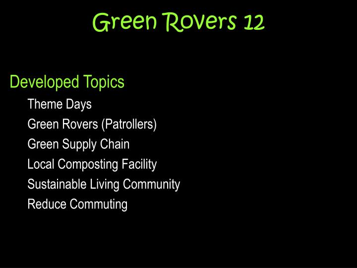green rovers 12 n.