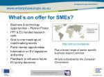 what s on offer for smes