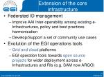 extension of the core infrastructure