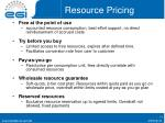 resource pricing