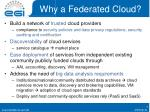 why a federated cloud