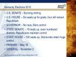 kentucky elections 20101