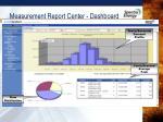 measurement report center dashboard