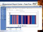 measurement report center peak flow
