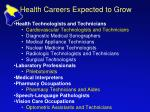 health careers expected to grow1