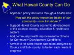 what hawaii county can do
