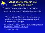 what health careers are expected to grow