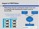 impact of hos rules