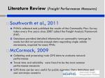 literature review freight performance measures1