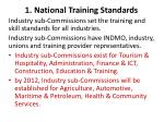 1 national training standards