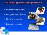 cultivating new entrepreneurs