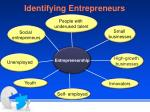 identifying entrepreneurs