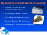 measuring current entrepreneurship