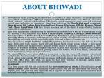 about bhiwadi