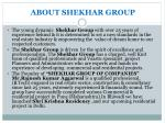 about shekhar group