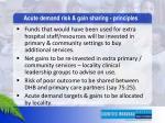 acute demand risk g ain sharing principles