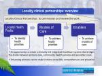 locality clinical partnerships overview