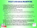policy and legal framework