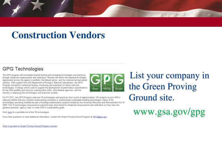 Construction Vendors
