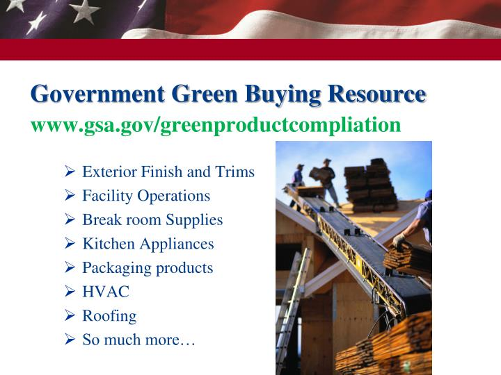 Government Green Buying Resource