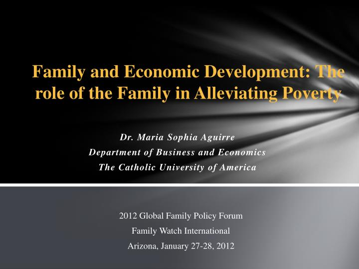 dr maria sophia aguirre department of business and economics the catholic university of america n.