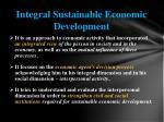 integral sustainable economic development
