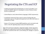 negotiating the cta and icf1