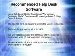 recommended help desk software