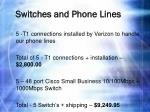 switches and phone lines