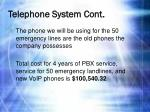 telephone system cont2