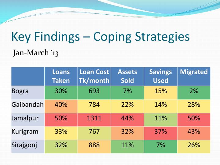 Key Findings – Coping Strategies
