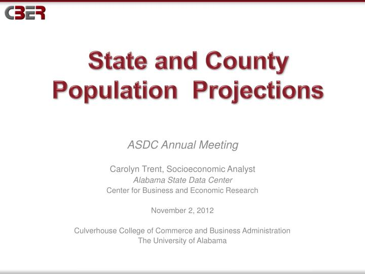 state and county population projections n.