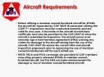 aircraft requirements