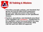 es training missions
