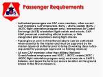 passenger requirements