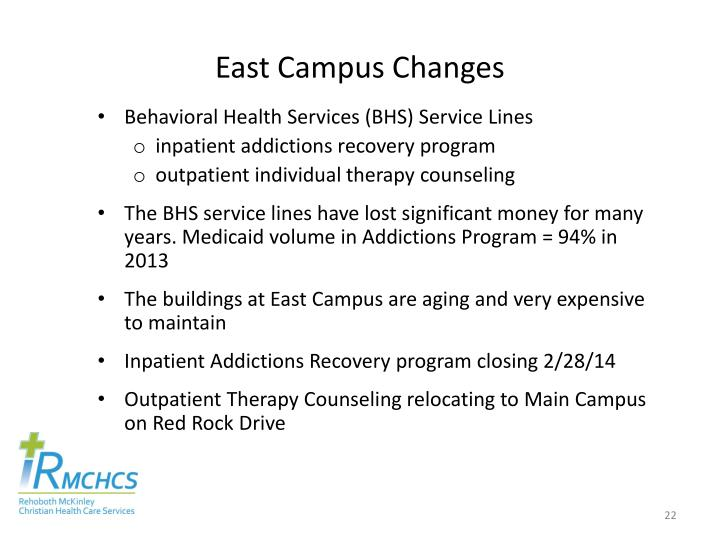 East Campus Changes