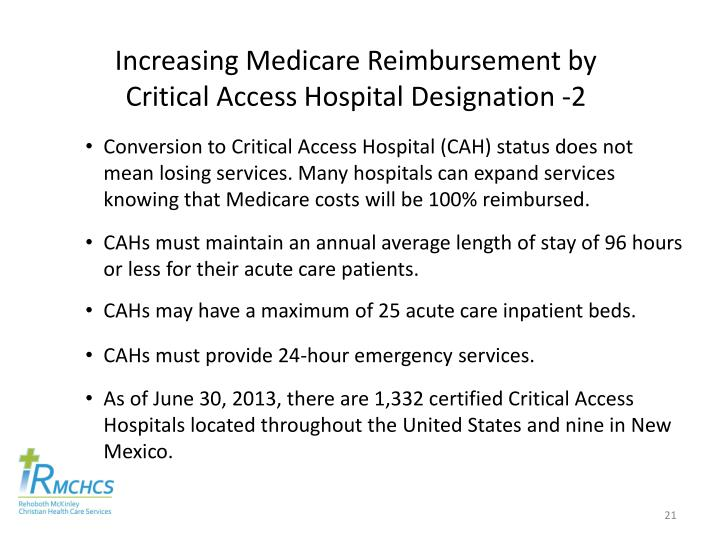 Increasing Medicare Reimbursement by