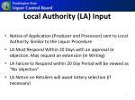 local authority la input