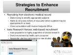 strategies to enhance recruitment