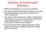 essential of recruitment materials