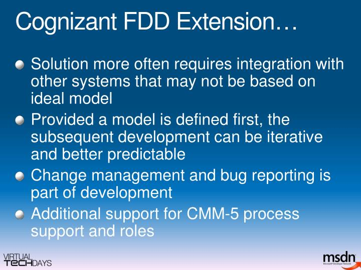 Cognizant FDD Extension